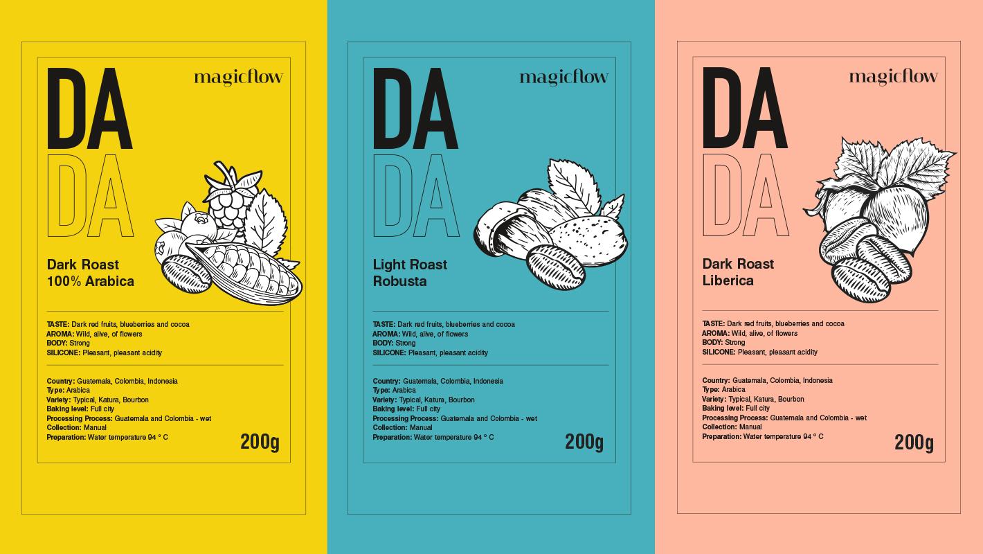 Magicflow Studio | DADA label design