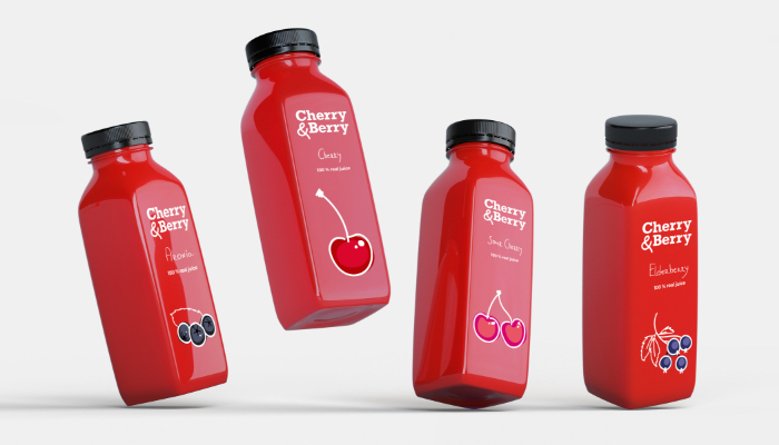 Magicflow Studio | Cherry & Berry Bottle Label design
